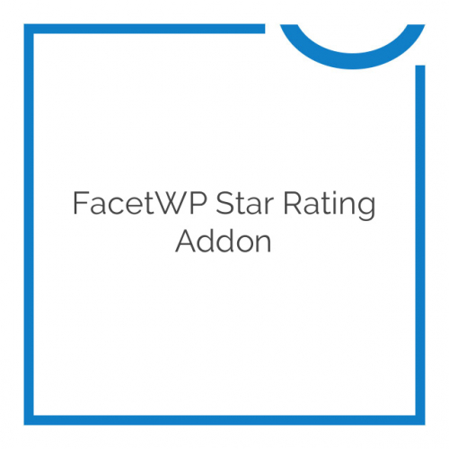 FacetWP Star Rating Addon 1.0.4