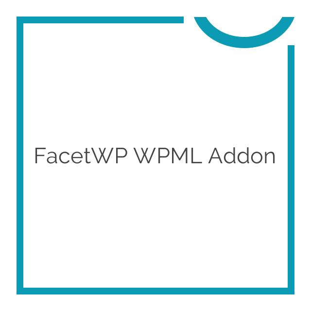 FacetWP WPML Addon 1.3.0