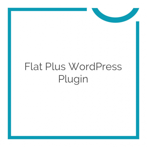 Flat Plus WordPress Plugin 1.0.0