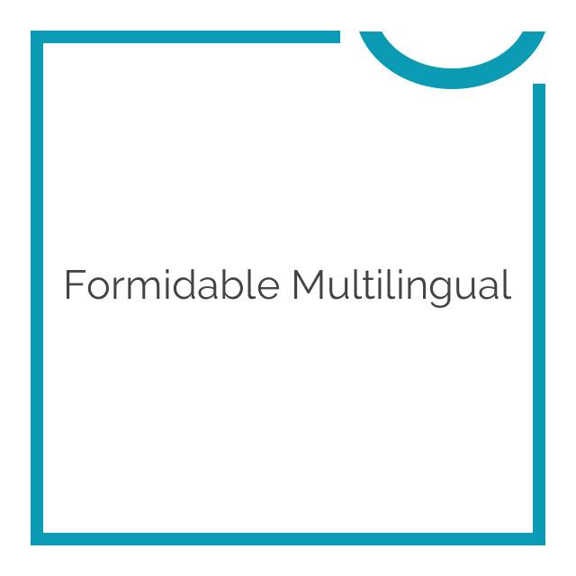 Formidable Multilingual 1.03.03