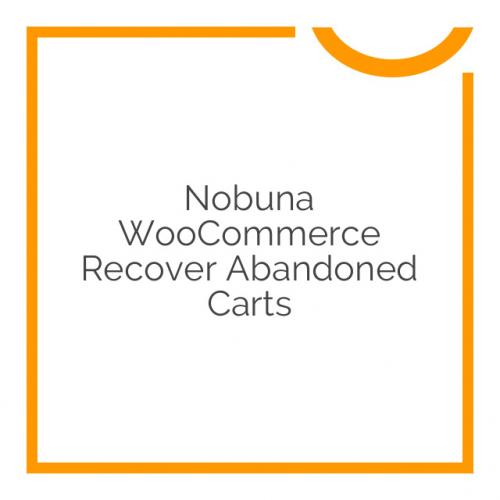 Nobuna WooCommerce Recover Abandoned Carts