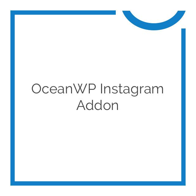 OceanWP Instagram Addon 1.0.0
