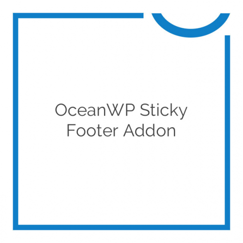 OceanWP Sticky Footer Addon