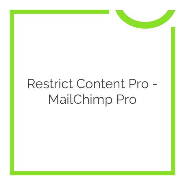 Restrict Content Pro – MailChimp Pro 1.4