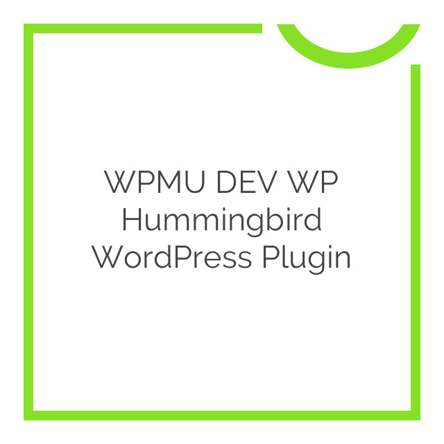 WPMU DEV WP Hummingbird WordPress Plugin 1.7.0.3