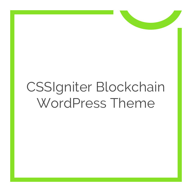CSSIgniter Blockchain WordPress Theme 1.0.0