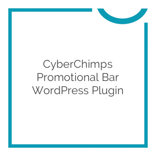 CyberChimps Promotional Bar WordPress Plugin 1.4