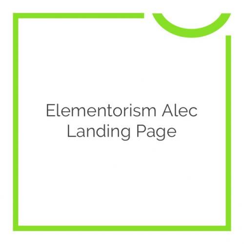Elementorism Alec Landing Page 1.0.0