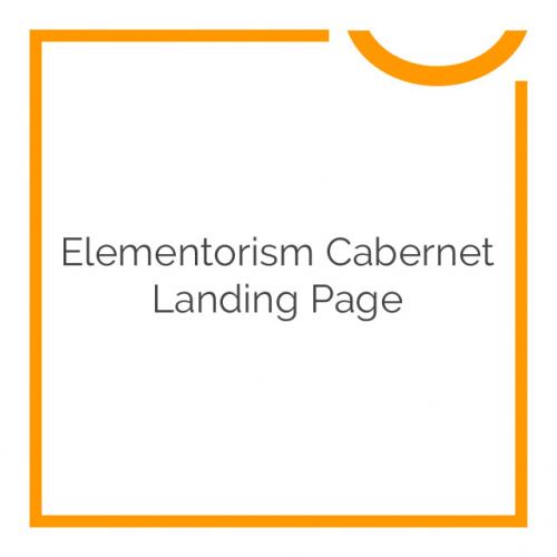 Elementorism Cabernet Landing Page 1.0.0