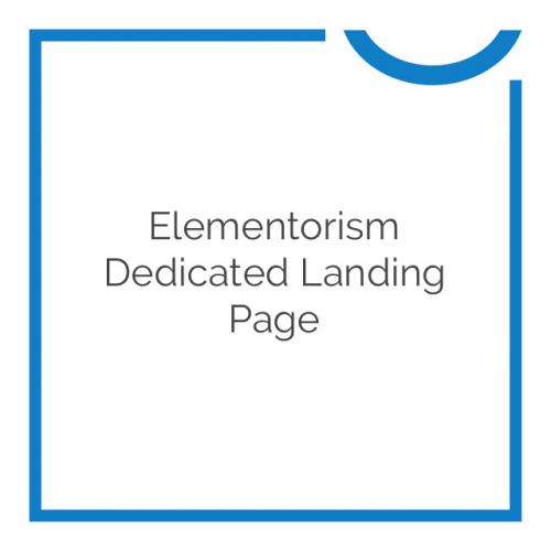 Elementorism Dedicated Landing Page 1.0.0