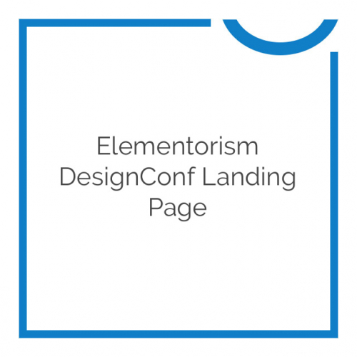 Elementorism DesignConf Landing Page 1.0.0