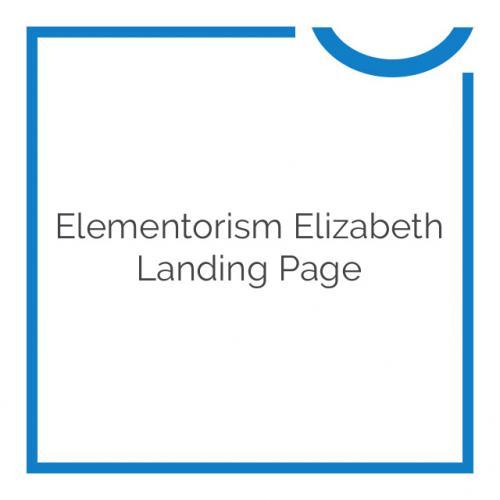 Elementorism Elizabeth Landing Page 1.0.0