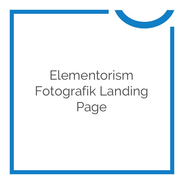 Elementorism Fotografik Landing Page 1.0.0