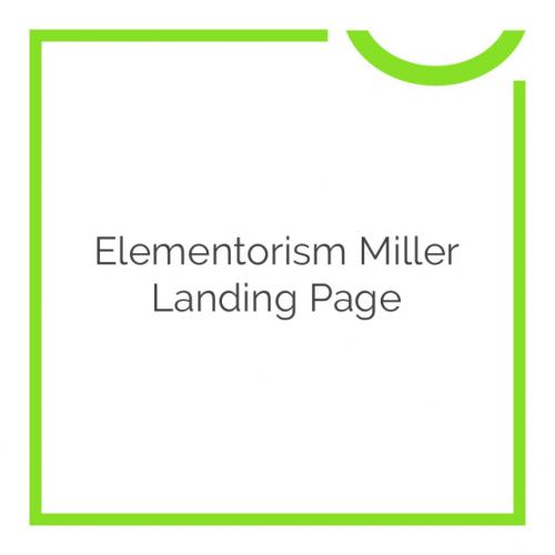 Elementorism Miller Landing Page 1.0.0