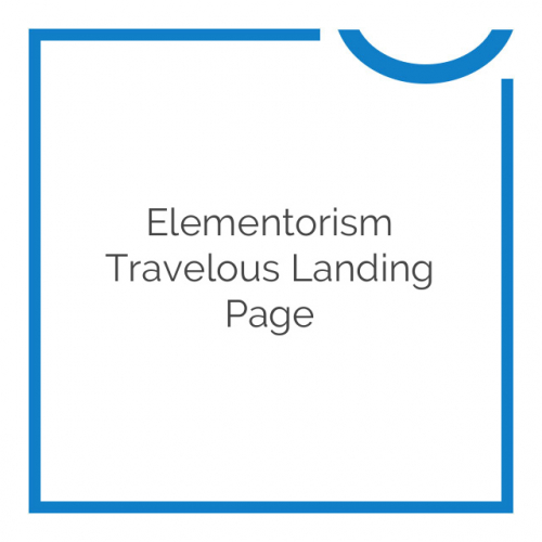 Elementorism Travelous Landing Page 1.0.0