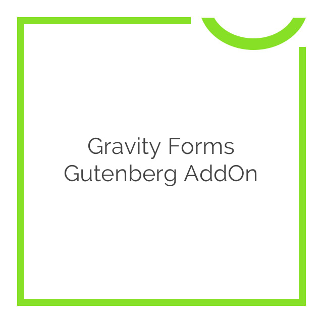 Gravity Forms Gutenberg AddOn 1.0 Beta 1