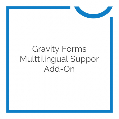 Gravity Forms Multtilingual Suppor Add-On 1.3.16