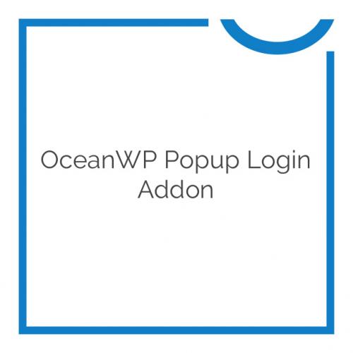 OceanWP Popup Login Addon 1.0.1