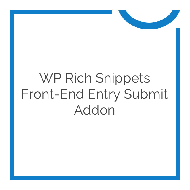 WP Rich Snippets Front-End Entry Submit Addon 1.1
