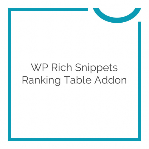 WP Rich Snippets Ranking Table Addon 1.9.3