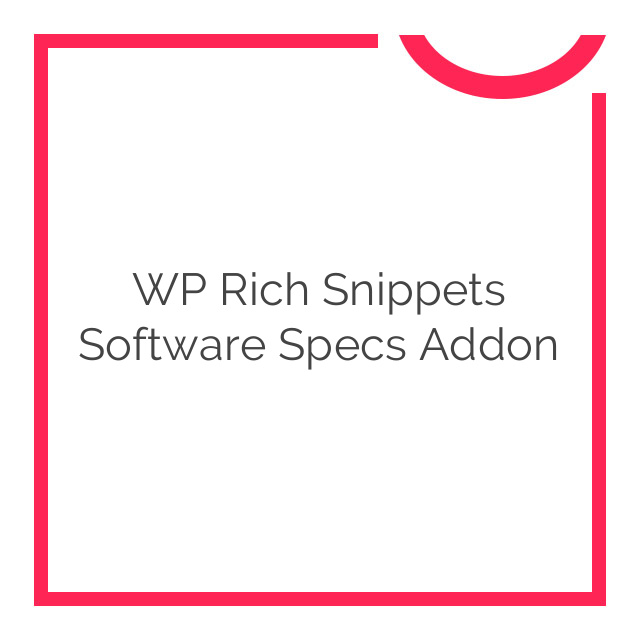 WP Rich Snippets Software Specs Addon 1.1