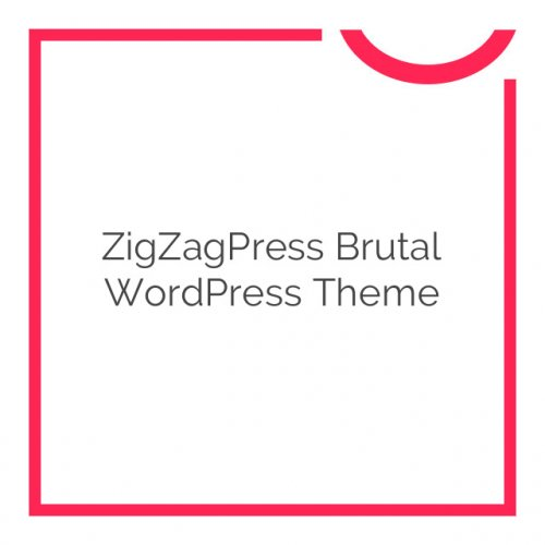 ZigZagPress Brutal WordPress Theme 1.3.0