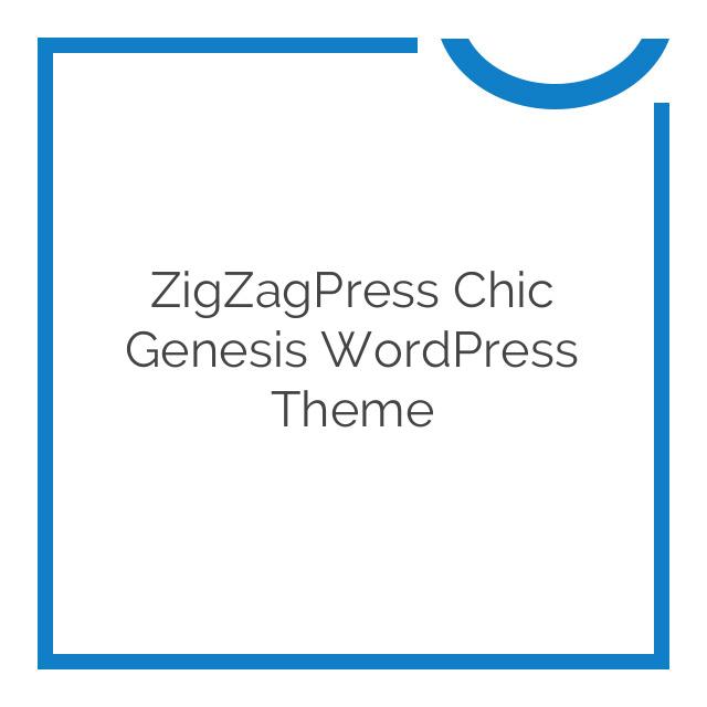 ZigZagPress Chic Genesis WordPress Theme 1.2