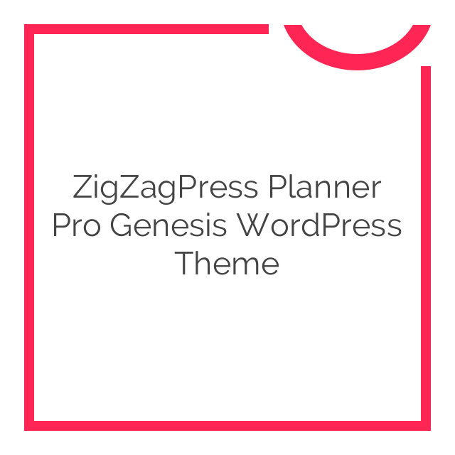 ZigZagPress Planner Pro Genesis WordPress Theme 1.2.2