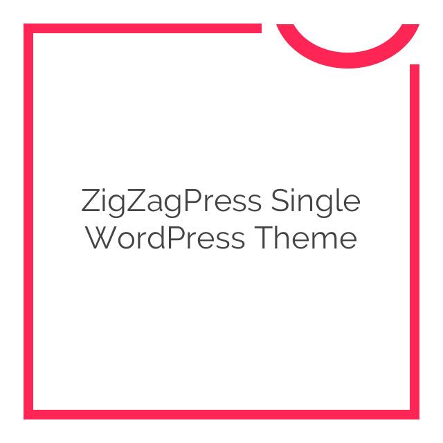 ZigZagPress Single WordPress Theme 1.3.3