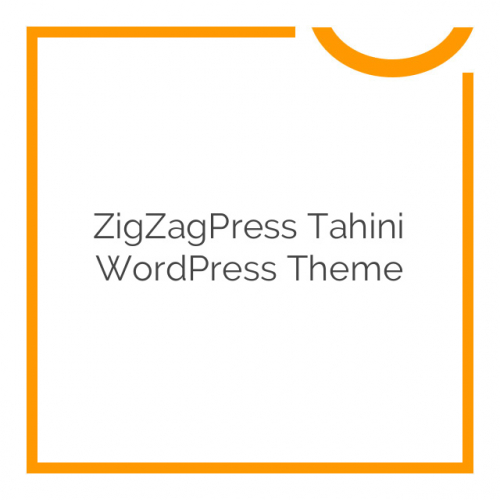 ZigZagPress Tahini WordPress Theme 1.0.0