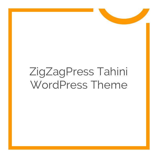 ZigZagPress Tahini WordPress Theme 1.0.0