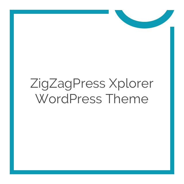 ZigZagPress Xplorer WordPress Theme 1.0.0