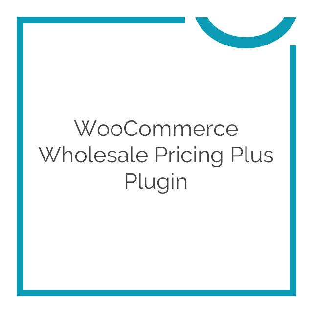 WooCommerce Wholesale Pricing Plus Plugin 2.3.30