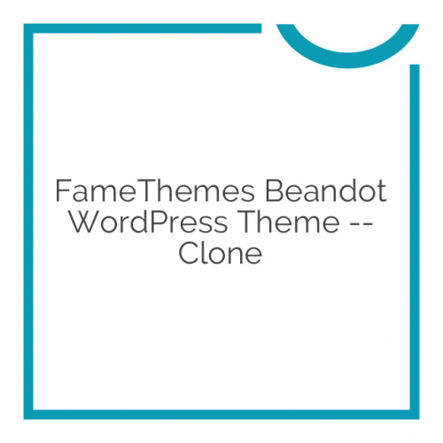 FameThemes Beandot WordPress Theme — clone