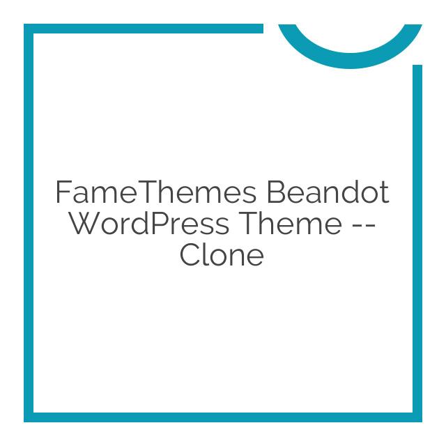 FameThemes Beandot WordPress Theme — clone