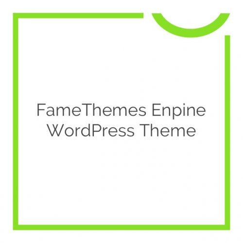 FameThemes Enpine WordPress Theme 1.3.0