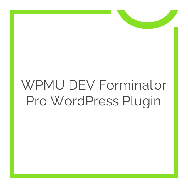 WPMU DEV Forminator Pro WordPress Plugin 1.0.4