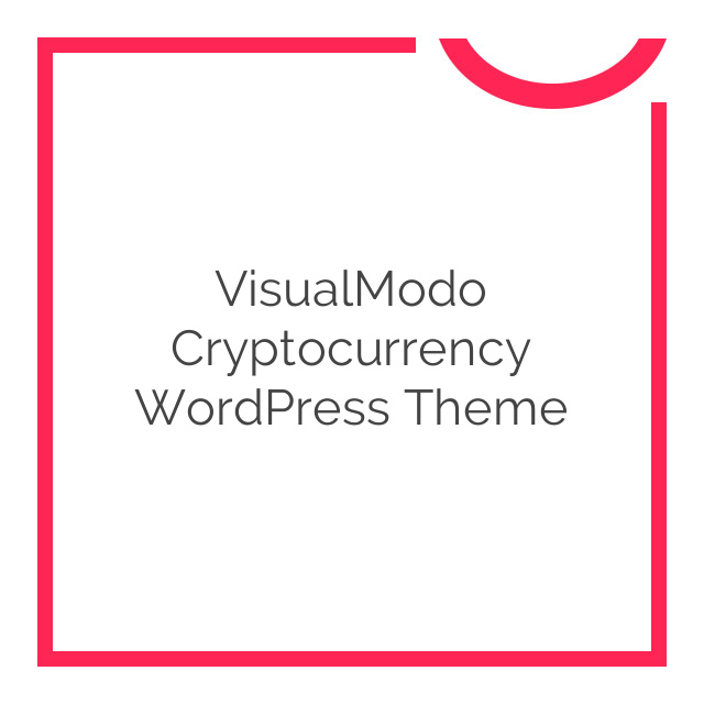VisualModo Cryptocurrency WordPress Theme 1.0.5