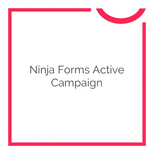 Ninja Forms Active Campaign 3.0.1