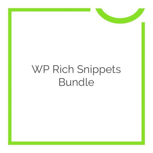 WP Rich Snippets Bundle 2018