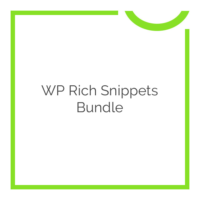 WP Rich Snippets Bundle 2018