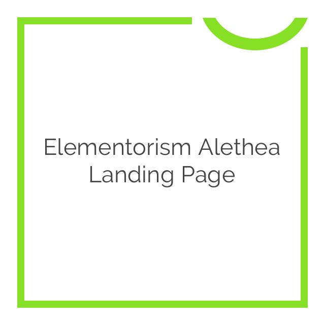 Elementorism Alethea Landing Page 1.0.0