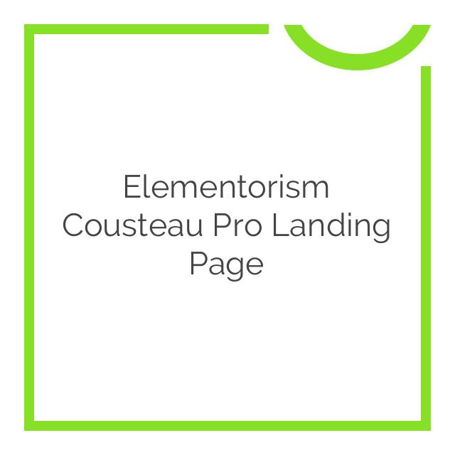 Elementorism Cousteau Pro Landing Page 1.0.0