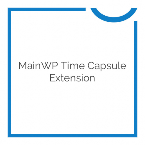 MainWP Time Capsule Extension 0.0.2-beta1