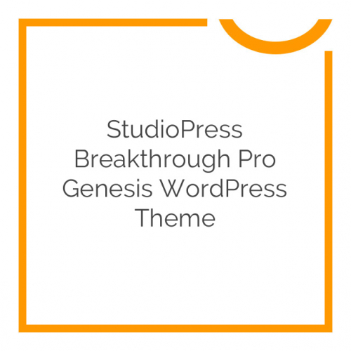 StudioPress Breakthrough Pro Genesis WordPress Theme 1.0.0