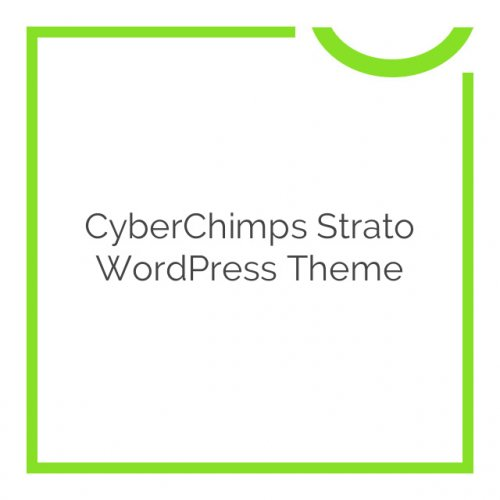 CyberChimps Strato WordPress Theme 1.0.0