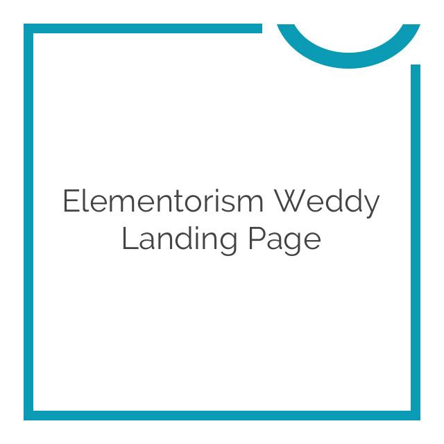 Elementorism Weddy Landing Page 1.0.0