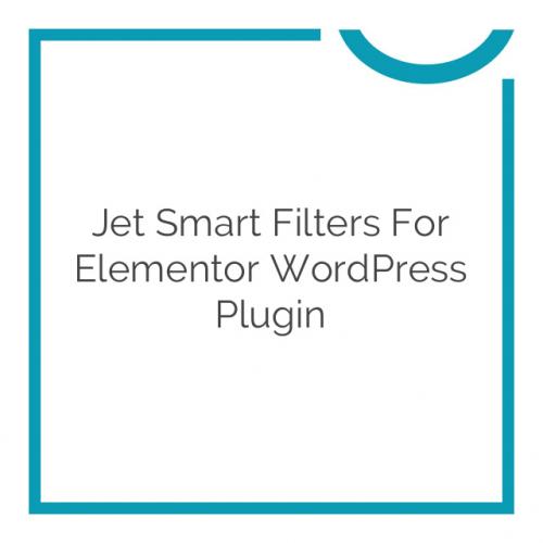 Jet Smart Filters for Elementor WordPress Plugin 1.1.0