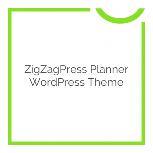 ZigZagPress Planner WordPress Theme 1.0.0