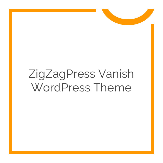 ZigZagPress Vanish WordPress Theme 1.3.0